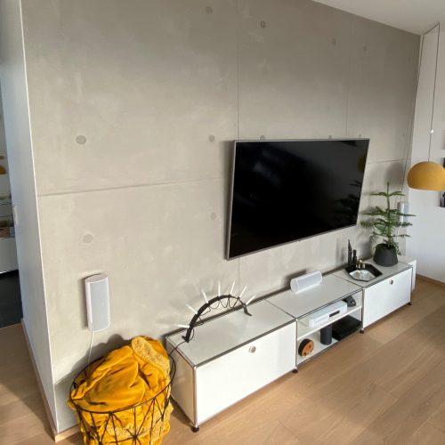 Wohnzimmer Betonoptik